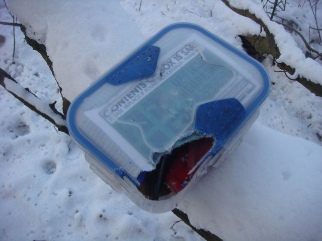 The chewed cache box