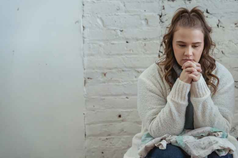 upset woman thinking about next steps after quarrel