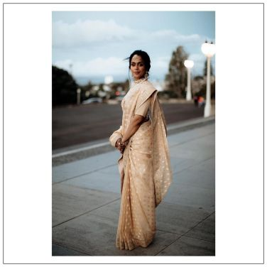 Bride Radhika in Sabyasachi
