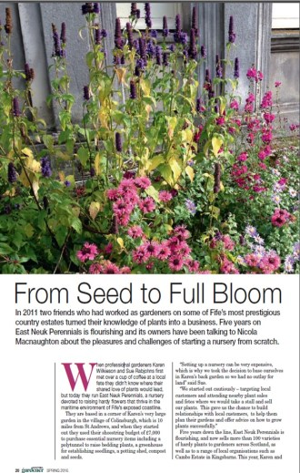 The Herald's Scottish Gardener magazine, Spring 2016