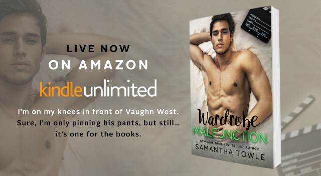 Release Day Launch: Wardrobe Malfunction by Samantha Towle  @samtowlewrites