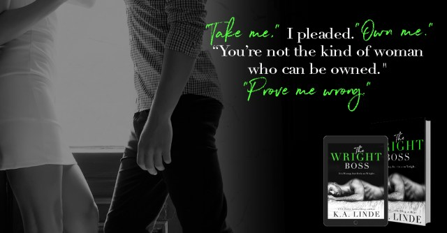 Blog Tour: The Wright Boss by K.A. Linda @AuthorKALinde @InkSlingerPR
