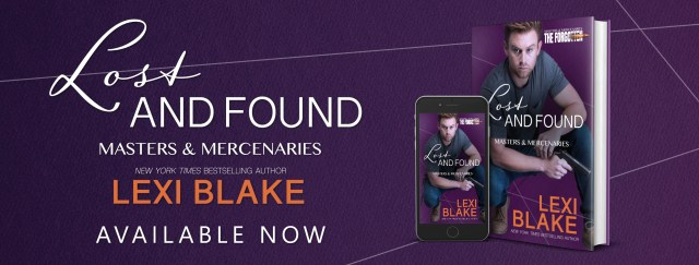 Release Blitz: Lost and Found Masters and Mercenaries: The Forgotten, Book 2 By Lexi Blake @authorlexiblake