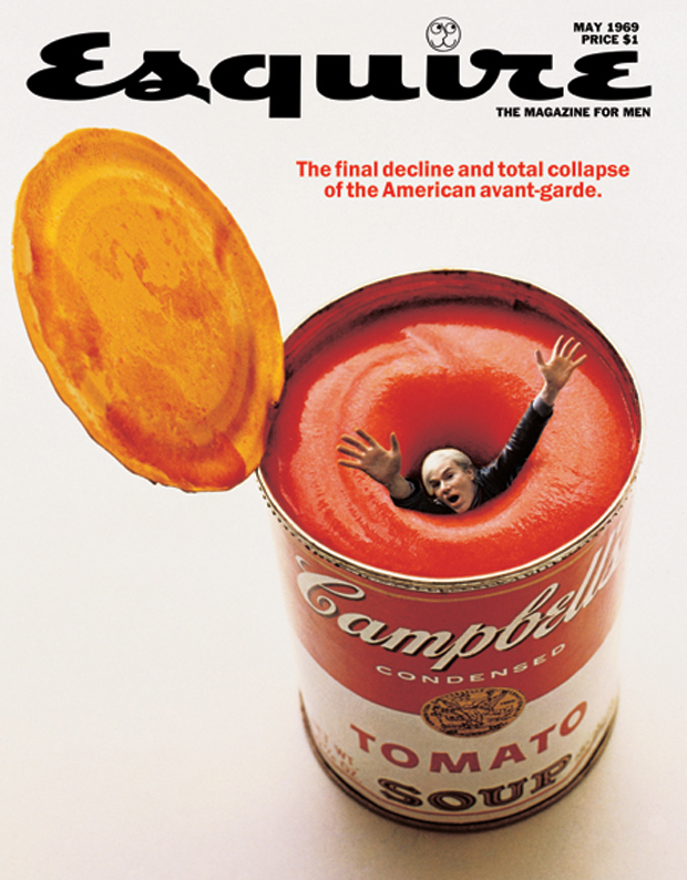 Andy Warhol in a can of tomato soup