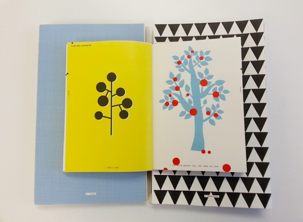 Scandinavian illustration book design inspiration