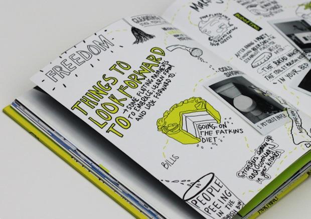 student flatmate survival book design inspiration