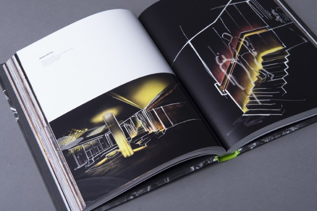 graphic design inspiration - typographic book interior spread design