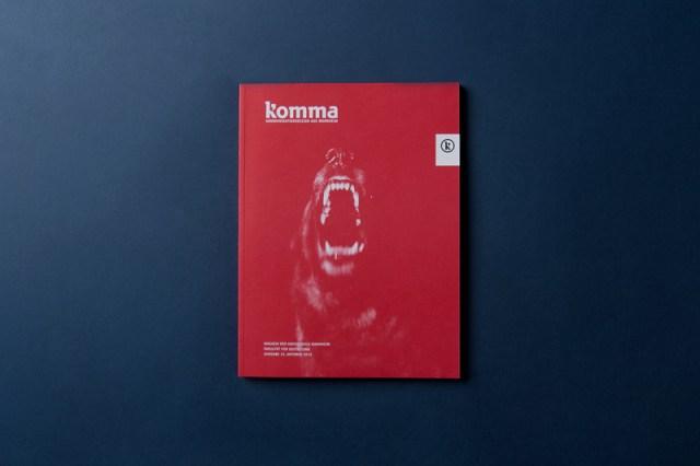 Graphic design inspiration – Komma magazine cover