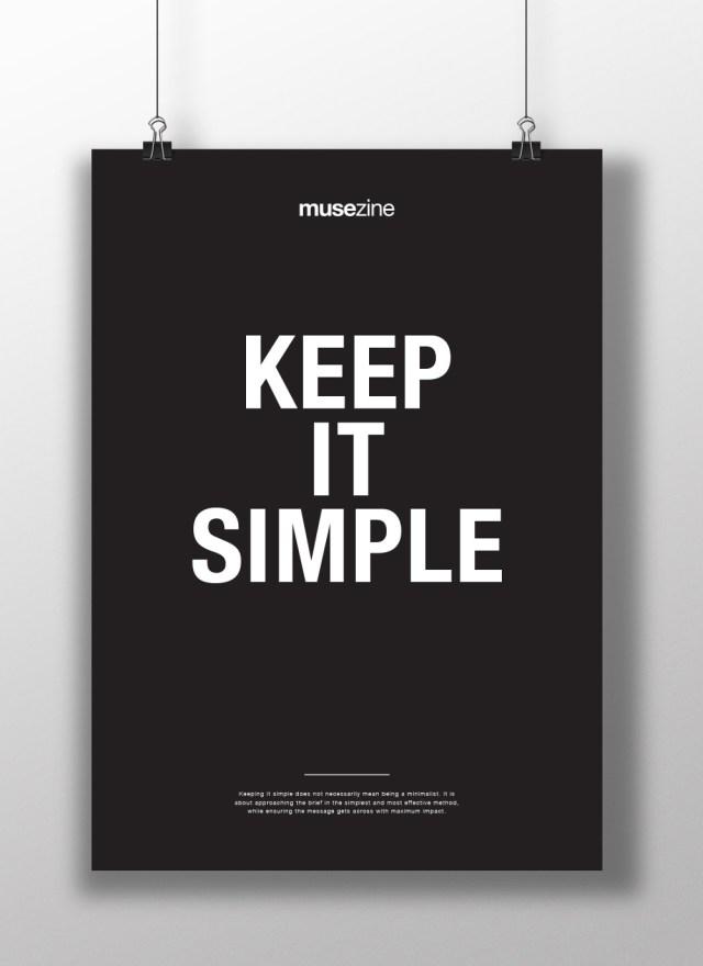 Musezine black and white poster print