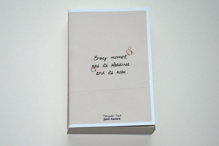 Jane Austen – Mansfield Park book cover design