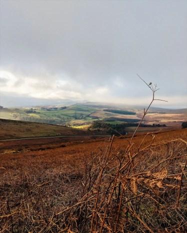 The Moorland beyond Stanage Edge Peak District - Jane Eyre Trail