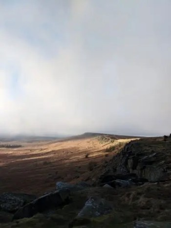 Sunlight on Stanage Edge - Jane Eyre Trail