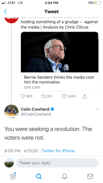 colin on bernie