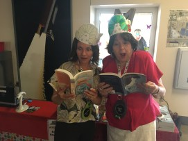 Caroline Starr Rose and Albuquerque Public Schools Superintendent, Raquel Reedy, are wild about reading!
