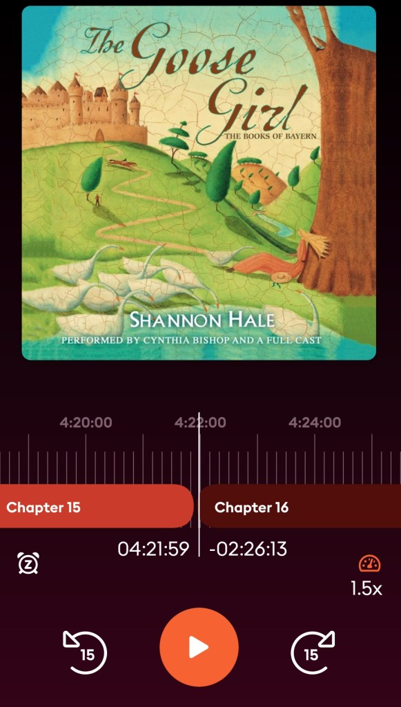 A Screenshot of The Goose Girl Audiobook