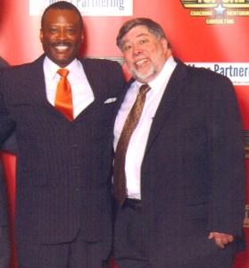 Dexter with Steve Wozniak, Co-Founder of Apple.