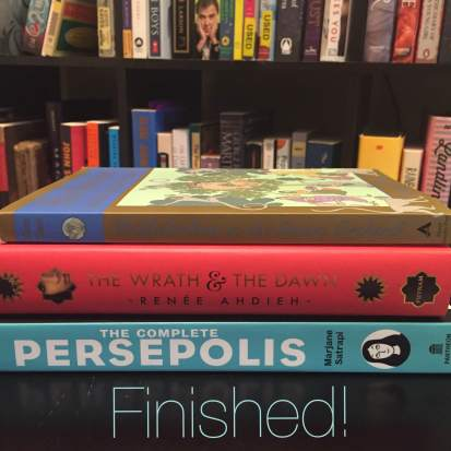 Finished books: Hullabaloo in the Guava Orchard, The Wrath & The Dawn, The Complete Persepolis