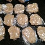 Twelve dough packets
