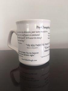 Handle to left of Psy-Changeling mug