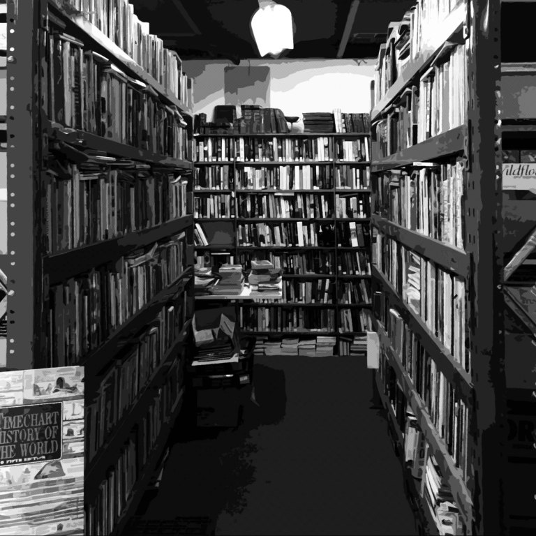THE BOOK SHED FACTORY B&W