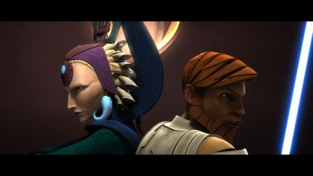 Satine and Obi Wan Clone Wars