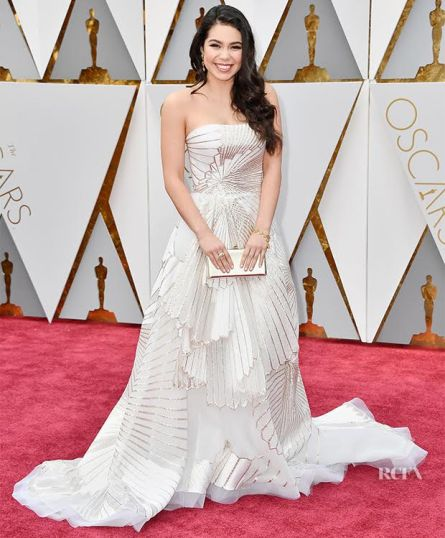 HOLLYWOOD, CA - FEBRUARY 26: Actor Auli'i Cravalho attends the 89th Annual Academy Awards at Hollywood & Highland Center on February 26, 2017 in Hollywood, California. (Photo by Frazer Harrison/Getty Images)