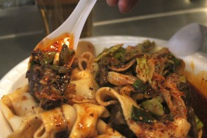 xian famous foods close up