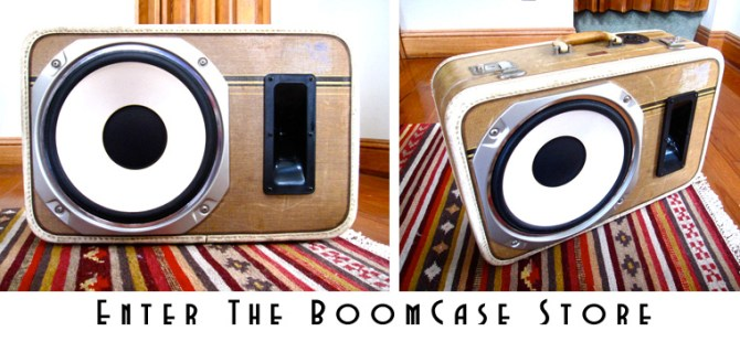 vintage boombox bluetooth boomcase suitcase retro boom box