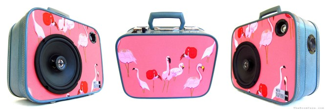 ambsn boomcase pink flamingo vintage classic boombox