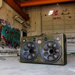 Vintage Suitcase Speaker BoomBox by BoomCase Retro Speakers