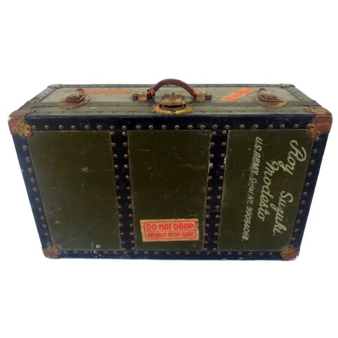 Trunk Vintage boomCase Suitcase boombox army green