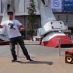 Salah Tokyo Gundam Statue BoomCase BoomBox Robot Dance Street
