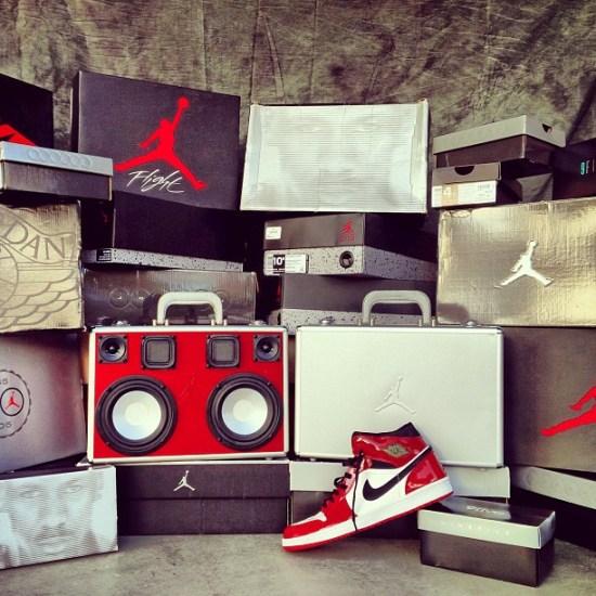 Jordan 17 Case turned BoomCase BoomBox NikePorn SneakerBox Jordans KicksOnFire #SneakerNews PHLgotheat 9Five SuperiorSneakers Nike