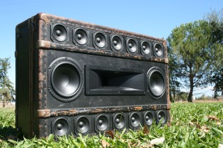 BoomCase Vintage Trunk Speakers BoomBox Unique Audio System Gifts Bluetooth Singapore Bass