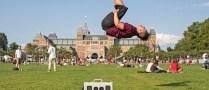 Amsterdam Netherlands Dance Bboy Break Dancing BGirl Flip VincaniTV Sacramento