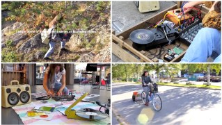 Lisa Busby Sound Performance Art BoomCase BoomBox Synth Hacked Sound HandMade synthesizers UK Art