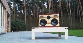 Tim Busschots Belgium BoomCase Antwerp Outdoor Forest Speakers Sound System Europe Vintage BoomBox Wooden