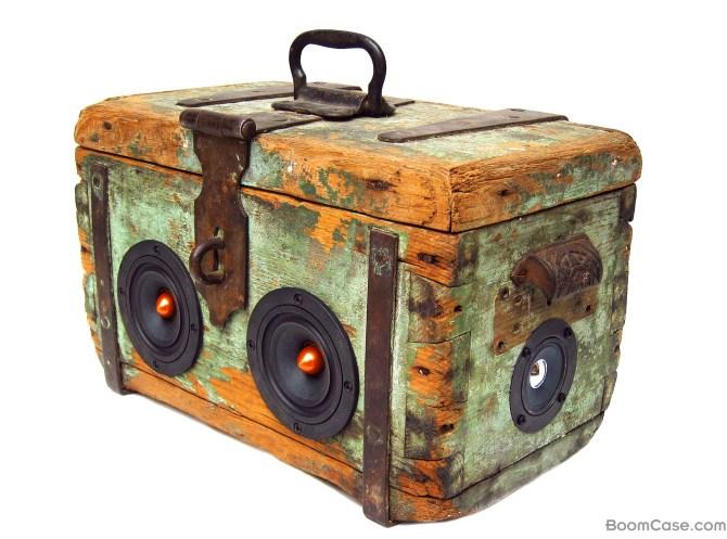 Pirate Wooden BoomBox Vintage BoomCase Wood 1800s Toolbox UK Australia
