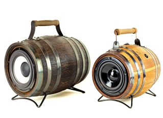 Wine Barrel Whiskey Barrel Keg BoomCase BoomBox Oak Barrel BoomBarrel Speaker Bluetooth Wireless Speakers Battery Best Sound