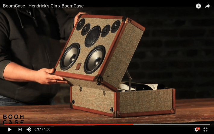 Custom handmade BoomCase for Hendricks Gin
