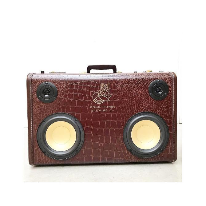 good things brew beer BoomCase BoomBox Speaker Bluetooth Portable Brewery