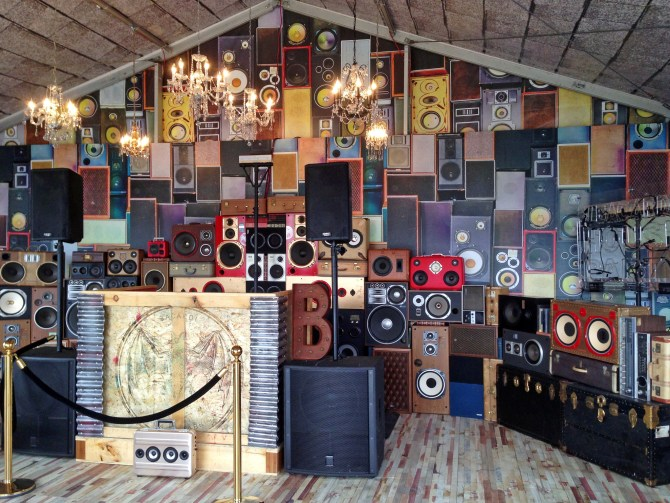Speaker Wall rental Kentucky Derby BoomCase Bacardi Speaker Wall House Party
