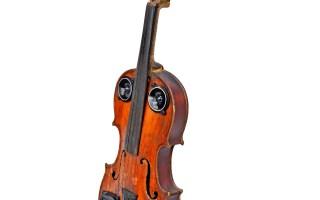 Violin Speaker Vintage Wood BoomCase