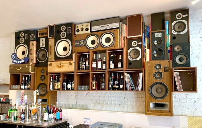 Speaker Wall of Sound by BoomCase in Sacramento Solomons Deli