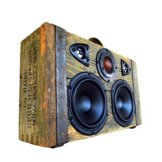 ammo box boombox vintage boomcase army