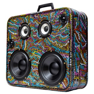 Retro BoomBox BoomCase Vintage BoomBox Bluetooth HandPainted Speakers
