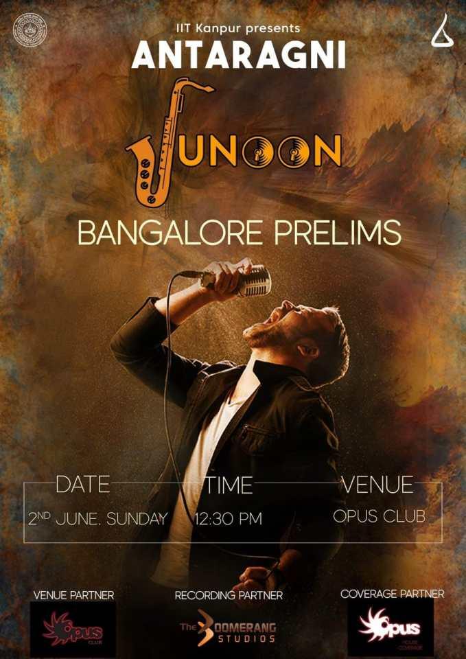 Antaragni Junoon Bangalore Prelims Poster