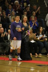 Photo by: Nicaila Mata --- Senior Lindsey Boswell walks with her escort, Dustin Yocum.