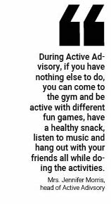 Active Advisory provides a way for students to be active in school