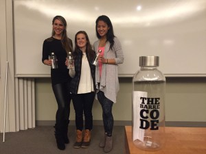 CWiB co-chair Darcey O'Halloran with The Barre Code co-founder Jillian Lorenz and General Counsel Suleen Lee